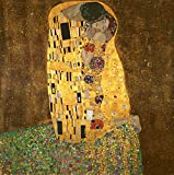 Wieco Art - Extra Large The Kiss by Gustav Klimt Famous Oil Paintings Reproductions Stretched and Framed Modern Giclee Canvas Prints Artwork Pictures on Canvas Wall Art Ready to Hang for Home Decor XL
