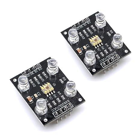 Willwin - 2 sensores de Color TCS230 TCS3200 Módulo Detector de Sensor de reconocimiento de Color DC 3: Amazon.es: Electrónica
