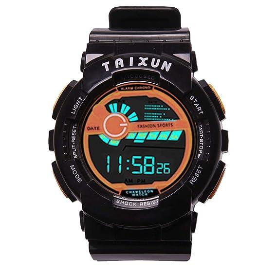 Relojes Niños Digital Relojes de Pulseras Chicos Niñoa Chicas Militar Negro Deportivo Impermeable Led Eléctrico Calendario Alarma Timer Reloj Adolescente ...