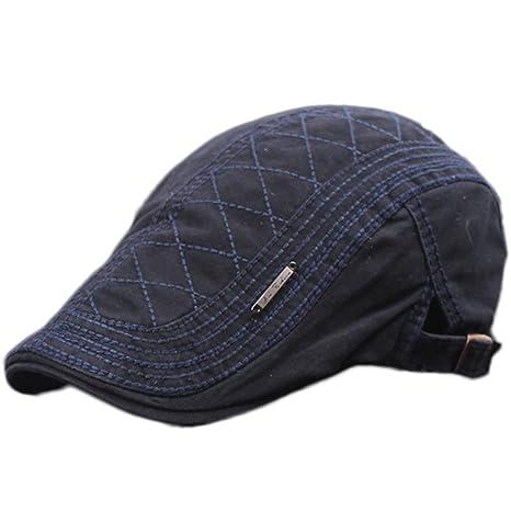 acfa25f3137b1 Gespout Sombreros Gorras Boinas Vaquero Hombres Mujer Hat Flat Cap Invierno  Otoño Caliente Viaje Senderismo Navidad