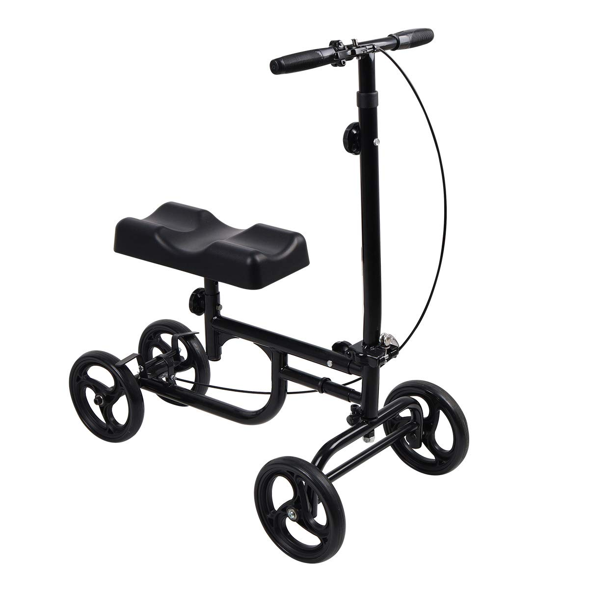 Give Me Economy Knee Scooter Steerable Knee Walker Crutch Alternative with Thick Knee Pad in Black by Give Me