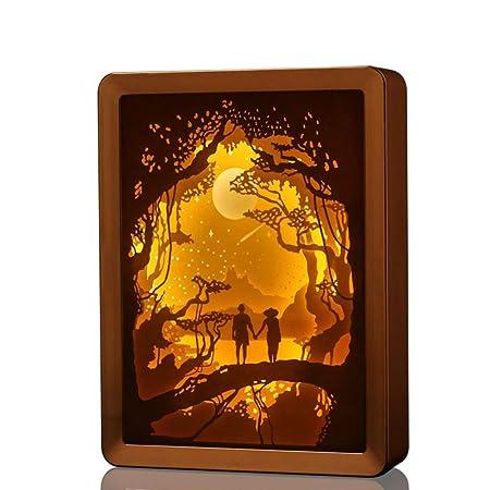 FABBD LED Lámpara Escritorio, Decorado 3D Lámpara de Mesa Niños y ...