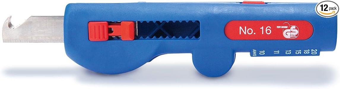 Bleu//Rouge WEICON 52000016 Quadro Stripper No.16 4 en 1 D/énudage dun c/âble de 8,0-13,0 mm