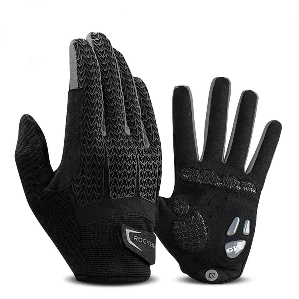 JXKEF Fahrradhandschuhe für Herren und Damen, die lange Finger berühren