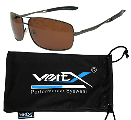 VertX Herren polarisiert Metall Aviator Sonnenbrille Frühling Scharnier Angeln fahren Golf im freien 15ExH