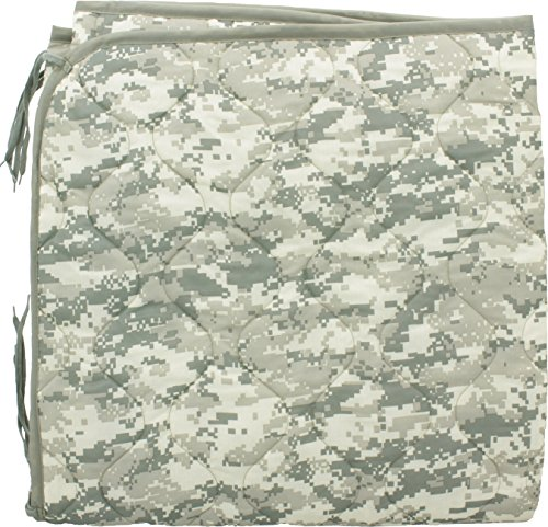 (ACU Digital Camouflage (Universal Camo) Military Rip-Stop Poncho Liner Insulated Blanket Woobie)