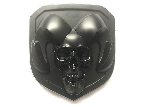 For Dodge Ram 1500 2500 3500 Silver 3D Skull Rams Head Grille//Tailgate Emblem