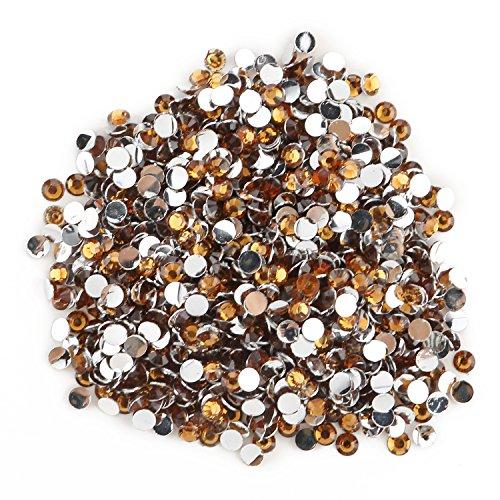 Earrings Swarovski Amethyst Light (Round Beads for Jewelry Making -- Flat Back Clear Crystal Rhinestones (3 mm) Wholesale Bulk -- Yazycraft)