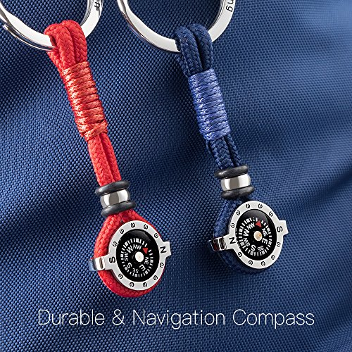 Novelty Compass Keychain for Outdoor Enthusiast, Stylish & Practical, Quality Compass for Hiking, Camping, Luxurious Packaging, Outdoor Gift for outdoorsman, Gift for Hikers, Campers, for Backpackers by DAYHAO (Image #4)