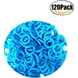 ThreeBulls 120Pcs Rubber O-Ring Switch Dampeners Keycap sky blue For Cherry MX Key Switch Keyboards Dampers