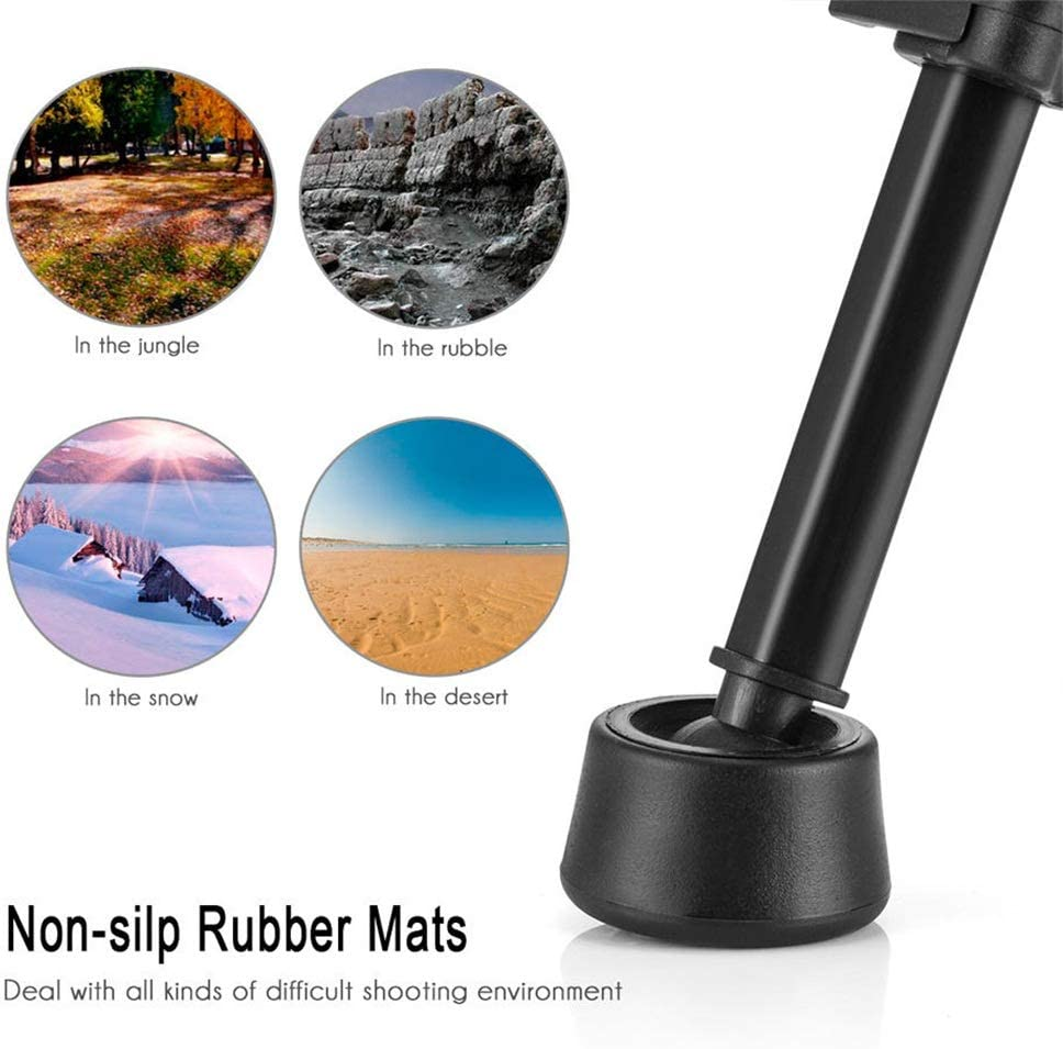 Extendable Aluminum Tripod Mount Stand Standard 1//4 Inch Screw Holder Photo Tripod Tripe for Travel and Work Color : Photo Color, Size : One Size
