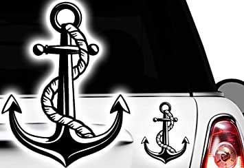 HR-WERBEDESIGN Maritim - Pegatinas para Barco, velero, timón, brújula, Anchor: Amazon.es: Coche y moto