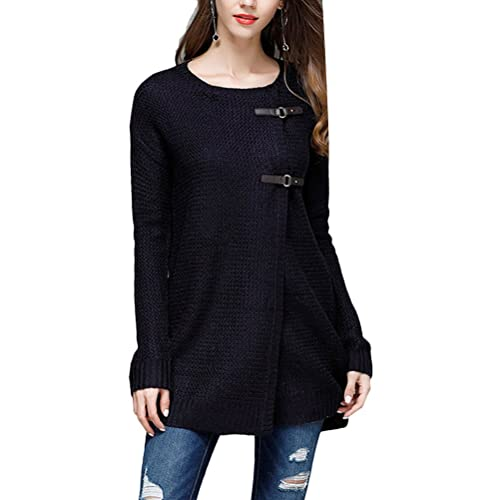 Zhhlinyuan Diseño de moda Fashion Ladies Knitted Cardigan Long Sweater Jackets Tops Solid Color Plus...