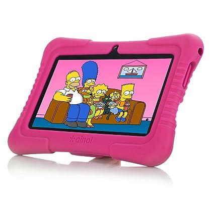 Ainol [Nuevo] Q88a(Tablet para niños con WiFi de 7 Pulgadas,Tablet Infantil de Android 8.1, Regalo para niños,Quad Core 1GB+8GB,Soporta Tarjeta TF ...