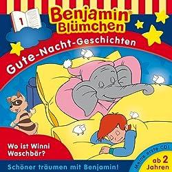 Wo ist Winnie Waschbär? (Benjamin Blümchen Gute Nacht Geschichten 1)