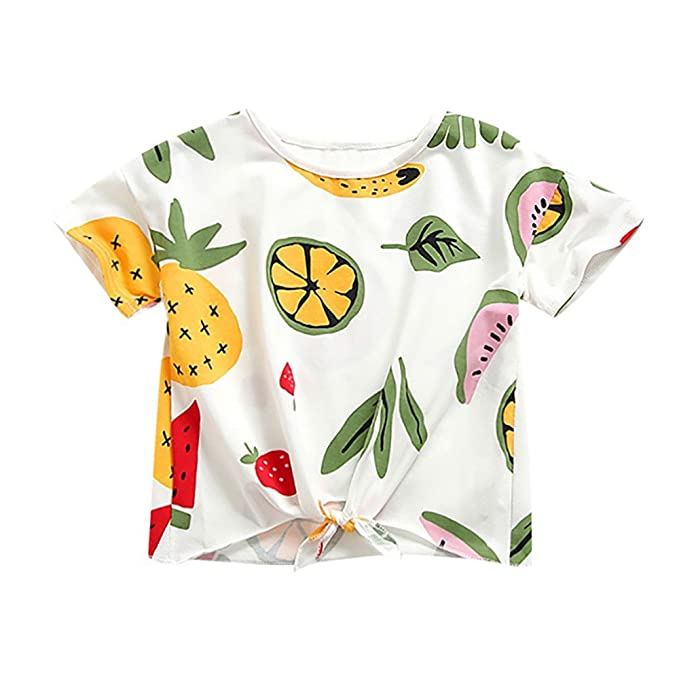 Amazon.com: Niños bebé ropa de niña impresión DE FRUTAS ...