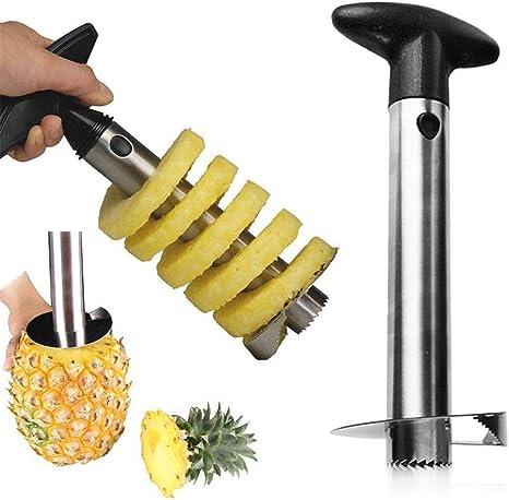 Details about  /Herramienta para cocina de acero inoxidable cortador y pelador de piña facil uso