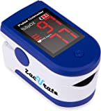 Zacurate Fingertip Pulse Oximeter Blood Oxygen Saturation Monitor with Batteries and Lanyard Included (Sapphire Blue)