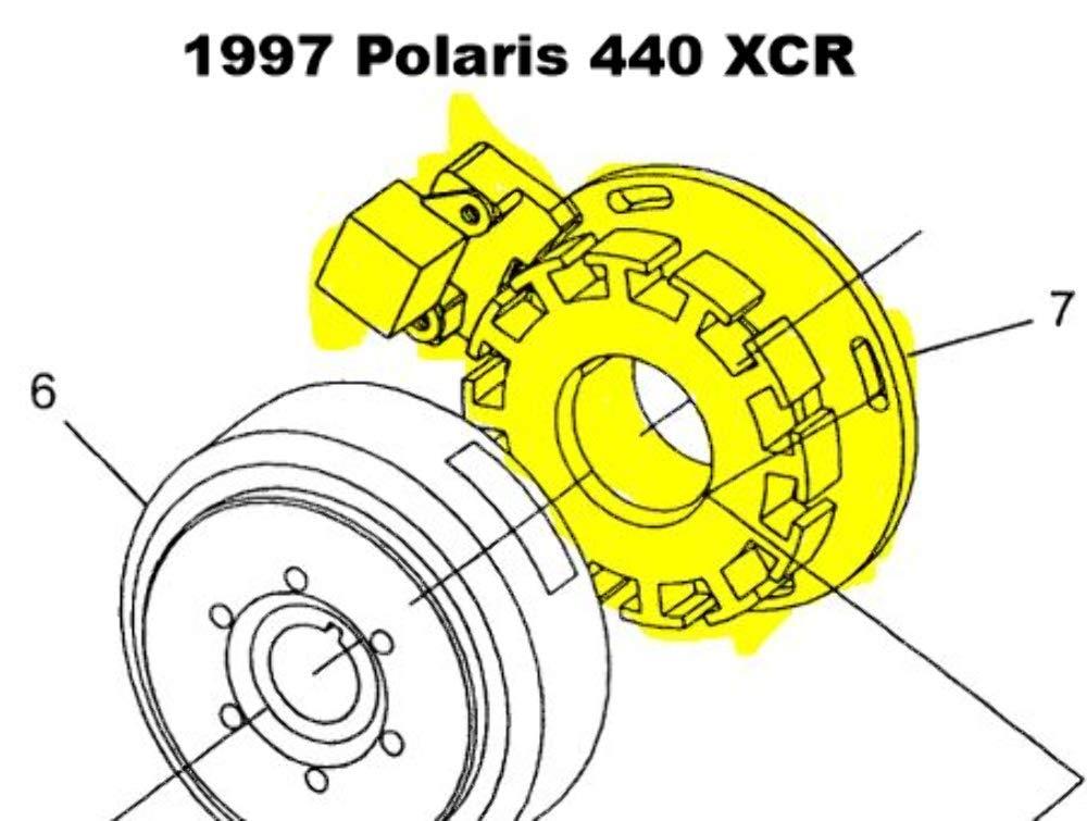 SPI SM-01355; Stator Assembly Polaris Snowmobile Made by SPI