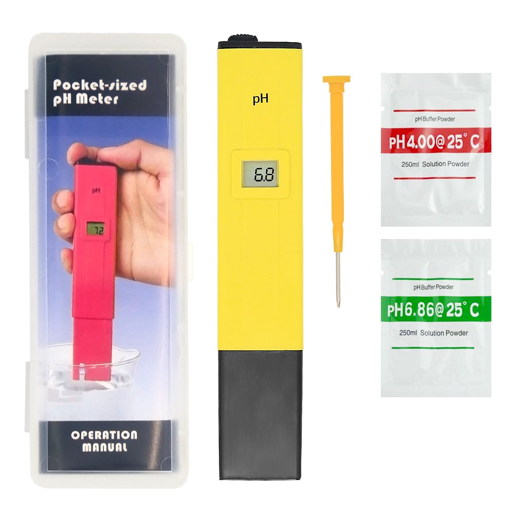 Clan_X Digital PH Meter- Accurate & Portable Size Water Quality Tester for Household Drinking Water, Hydroponics, Fish Tank, Pond, 0-14 PH Measurement Range with 0.1PH Resolution