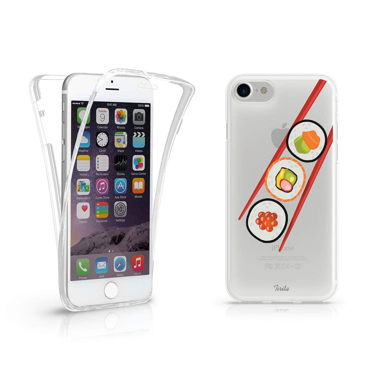 Iphone 6プラス&6 sプラスティリタフル360保護クリアソフトゲル電話ケース寿司和食日本流行ファッションギフトプレゼント   B07GL3913V