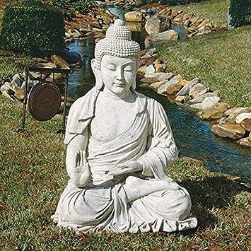 48u0026quot; Large Buddha Meditation Home Garden Sculpture Statue Figurine