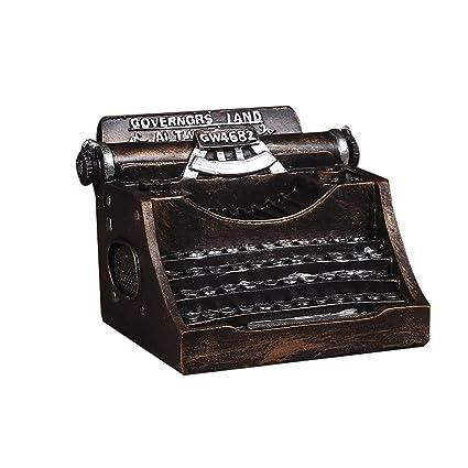 PPLLMMNN Decoración Decoración para el hogar Resina Máquina de Escribir Adornos Máquina de Escribir Mi