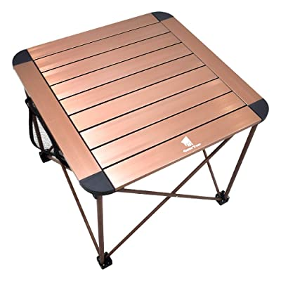 Camping Side Table, Geertop Portable Camp Roll Up Table Square Folding Table Aluminum Lightweight Table for Picnic, Beach, Boat, BBQ, Compact Outdoor Kitchen Dining Cooking Backpacking Hiking Table : Sports & Outdoors