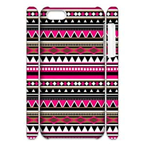 Custom Cover Case with Hard Shell Protection for Iphone 5C 3D case with Striped Plaid Style lxa#387375