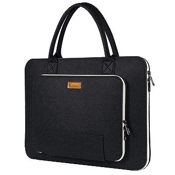 magasin en ligne a4c09 b904d Ropch 17 17.3 Pouces Housse Ordinateur Portable Laptop Sleeve Case Sacoche  Poche Etui Pochette avec Poignée pour 17.3
