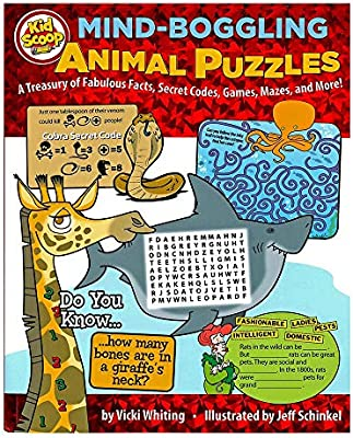 Secret Codes Mazes A Treasury of Fun and Exciting Activities Games and More Mind-Boggling Animal Puzzles and Brain Teasers Book Help Kids 5-10 Learn About Animals