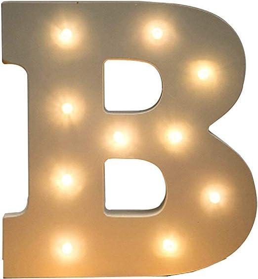 Pink LED Light Up Letters Christmas Alphabet Home Decoration MFD Satin Finish