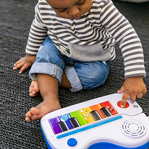 61is3C8Y1FL - Baby Einstein Flip & Riff Keytar Musical Guitar and Piano Toddler Toy with Lights and Melodies, Ages 12 months and up