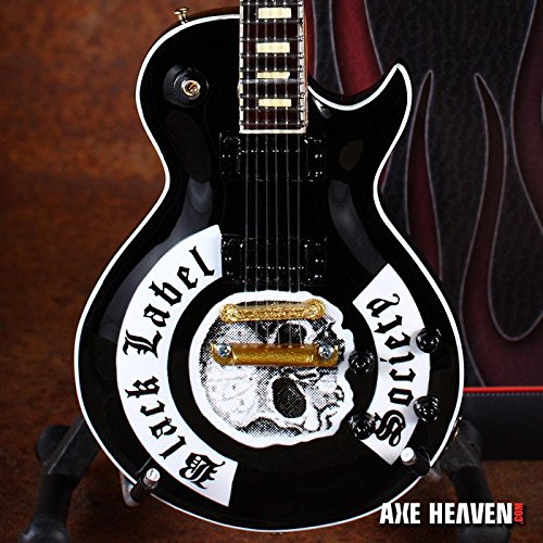 Black Label Society - Zakk Wylde Signature Black BLS Logo Miniature Guitar Replica Collectible