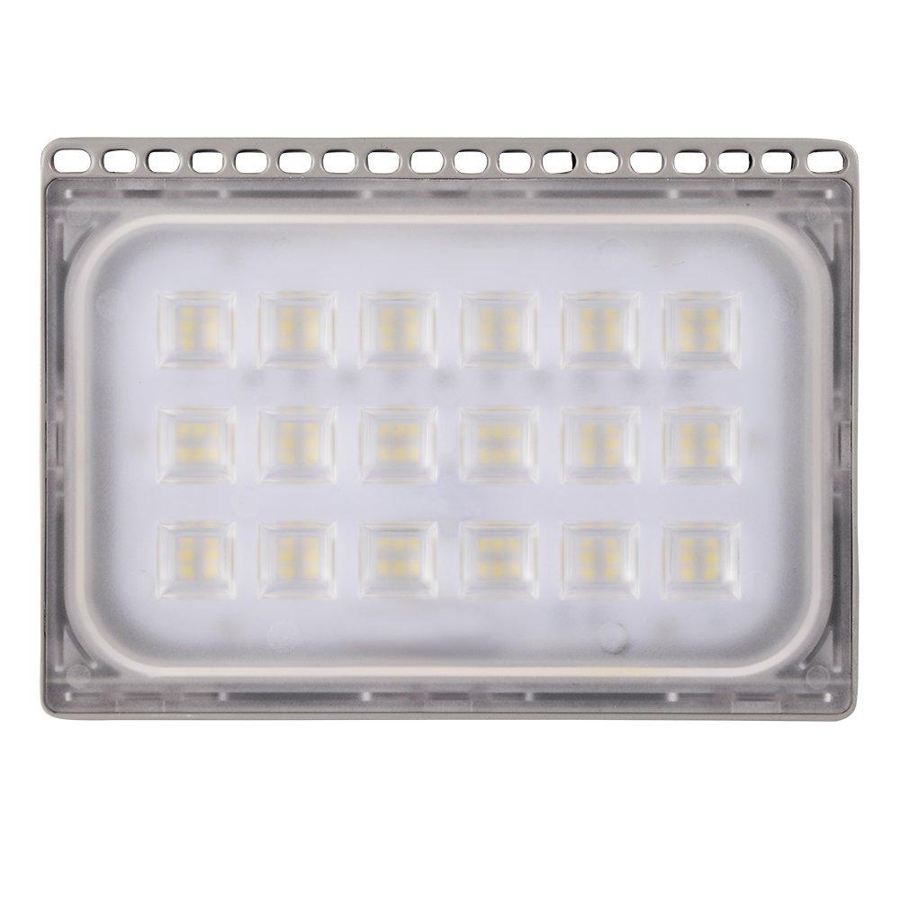 4 Stück 100W LED Fluter, HimanJie Ultra Dünn Kaltesweiß 6000K LED ...