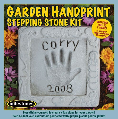 Midwest Products Kids Garden Handprint Stepping Stone Kit (Craft Garden Kit)