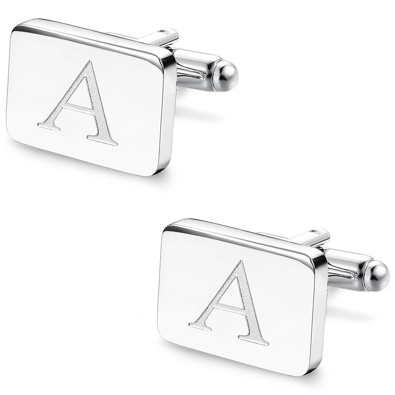 Amazon.com: udalyn 1 par para hombre del alfabeto, de acero ...
