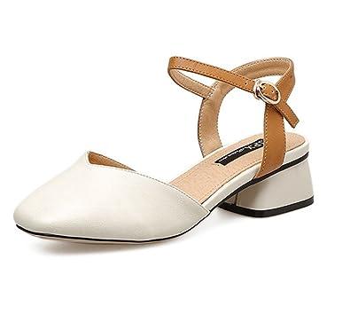 b9027b2f75f4e Amazon.com | Zarbrina Women's Mid Heeled Sandals Block Mules Ankle Strap  Pumps Slingback Summer Party Dress Shoes | Heeled Sandals