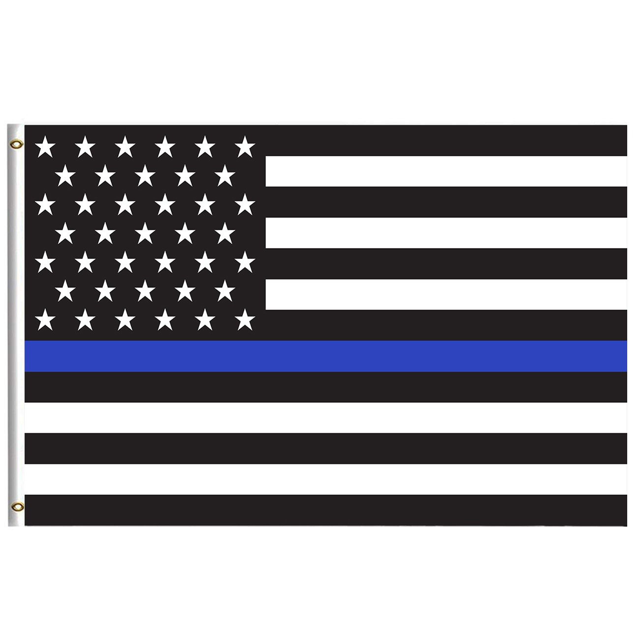 Thin Blue Line USA America Flags Flag 4x6 Feet with Brass Grommet Double Stitch Honoring Law Enforcement Officers Banner Garden Flag House Breeze Decorations for Indoor Outdoor Home Boat Car