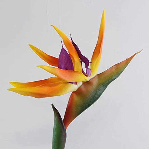 1x Artificial Flower Bird Of Paradise Fake Plant Silk Strelitzia Reginae Fashion