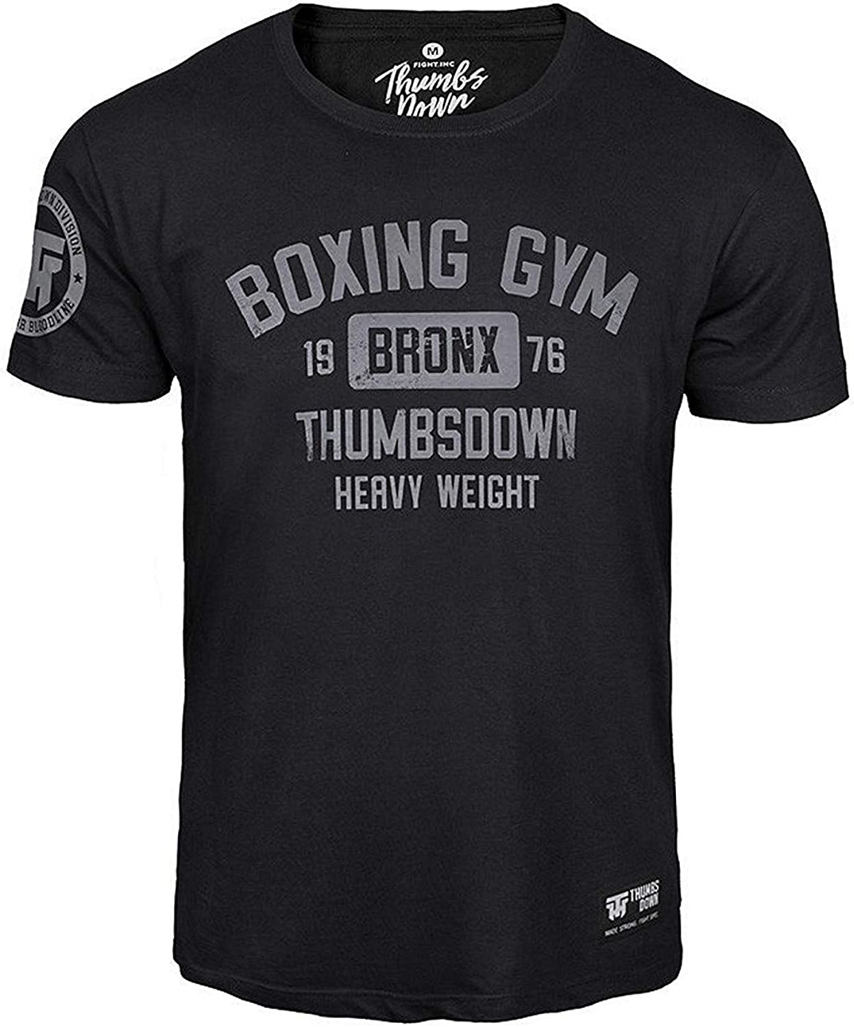 Boxing Gym Bronx Heavy Weight Thumbs Down Homme T-Shirt Martial Arts Casual