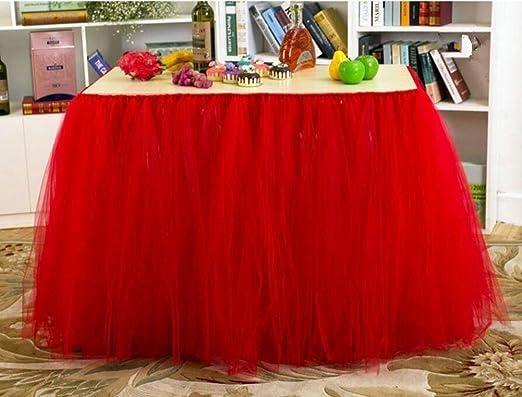 Mesa Tocador falda de tul mantel funda para mesa de fiesta cubre ...