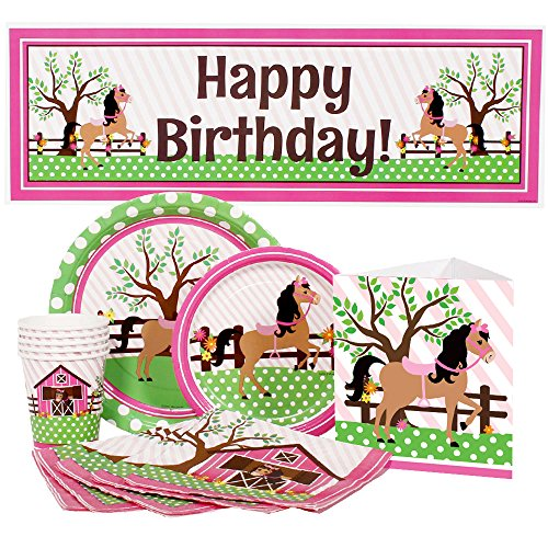 Playful Pony Party Supplies Package for (Pony Party Supplies)
