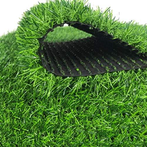 YNFNGXU 30mmパイル高人工芝、暗号化された模造マットマット屋外バルコニー屋根排水穴付き合成草カーペット (Size : 2x2.5m)