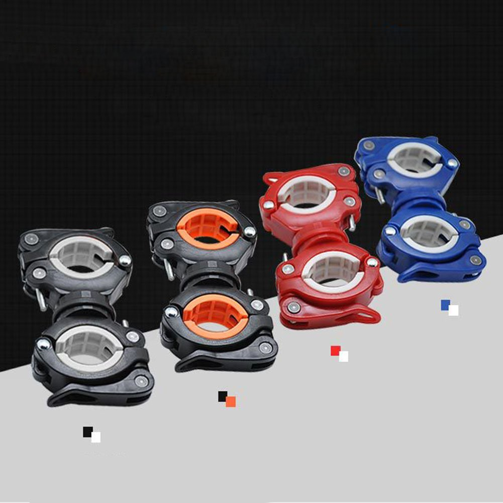 marco de luz delantera clip de fijaci/ón de sonido Wuudi Soporte para l/ámpara de bicicleta de monta/ña clips para linterna