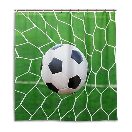 CPYang Cortinas de Ducha Deportivas de balón de fútbol Red ...