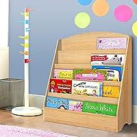 Keezi Kids Bookcase Childrens Bookshelf Organiser Storage Shelf Wooden (Wooden)