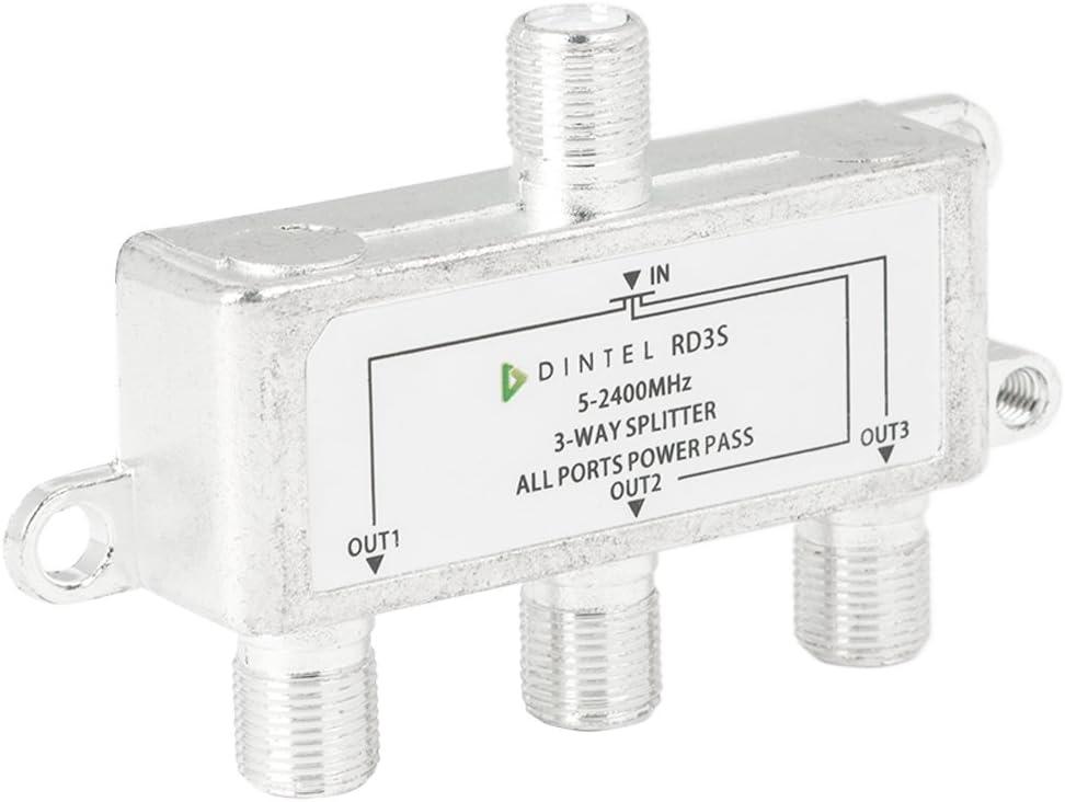 Dintel - Distribuidor 5-2400MHz F 3 Salidas satélite parabólico | Baja pérdida de inserción | Alto Aislamiento | Diseñado para SATV/CATV | Paso Actual 24V 0.8A (MAX)