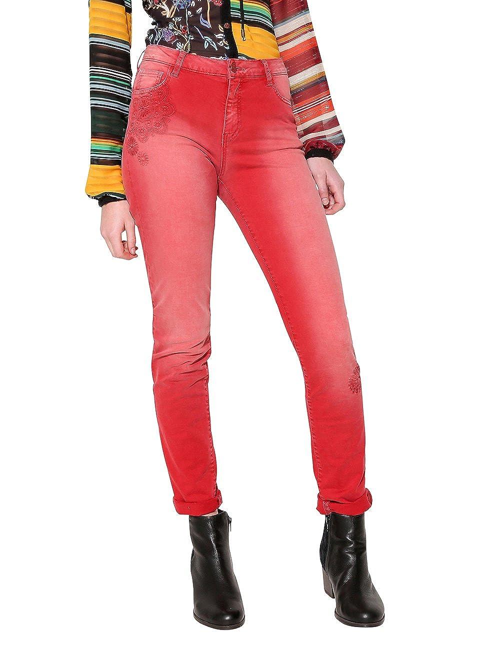 TALLA 36. Desigual Pant_angelinass, Pantalones para Mujer