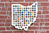 Ohio Beer Cap Map - Craft Beer Cap Holder